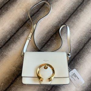 { Jimmy Choo } Madeline Leather Latte Shoulder Bag